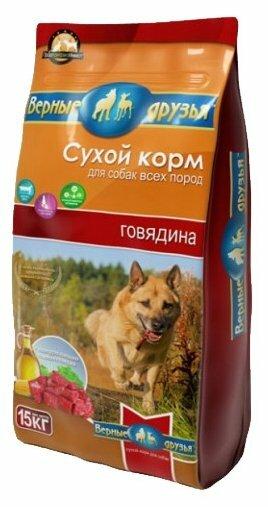 Корм для собак Верные друзья Сухой для всех пород - Говядина (15 кг)