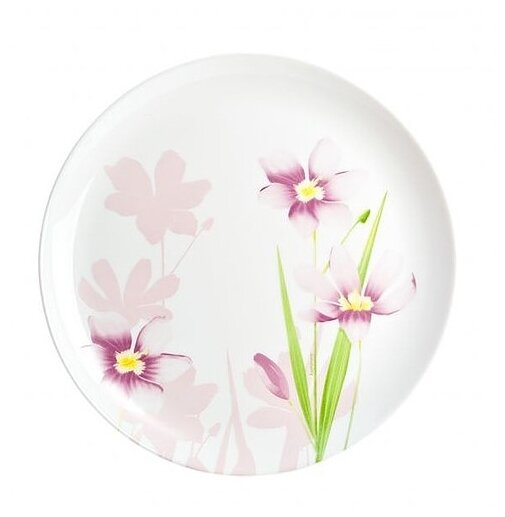 Luminarc Тарелка обеденная Dream grass 27 см N9685 белый/цветы