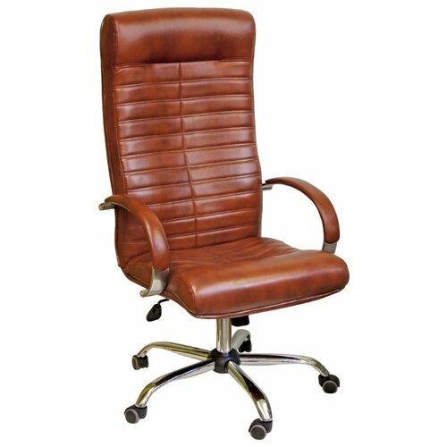 Компьютерное кресло Креслов Орион КВ-07-130112, обивка: искусственная кожа, цвет: коричневый кресло компьютерное креслов орман кв 08 130112 0453