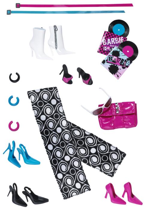 Barbie Комплект обуви и аксессуаров для куклы Барби Basics Accessories Look No 03—Collection 001