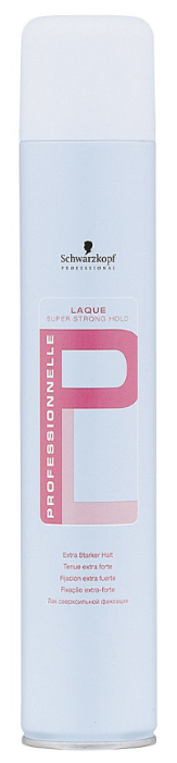 Schwarzkopf Professional Лак для волос Professionnelle Laque Super strong hold, экстрасильная фиксация