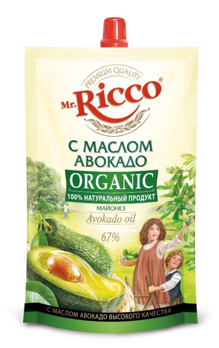 Майонез Mr.Ricco с маслом авокадо дой-пак 220мл