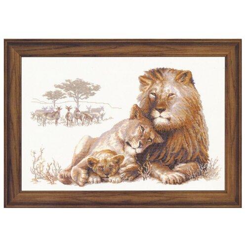 Купить Риолис Набор для вышивания Premium Львиный рай 60 х 40 см (100/013), Наборы для вышивания