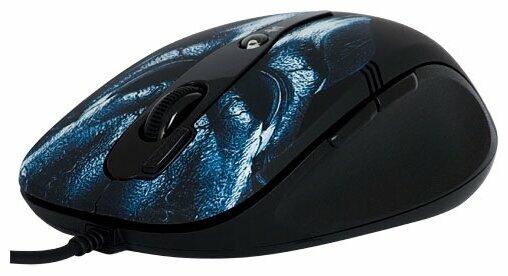 Мышь A4Tech F2 Blue Mask Black USB