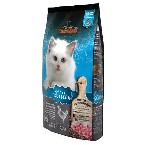 Корм для кошек Leonardo Kitten на основе Курицы (7.5 кг)Корма для кошек<br>