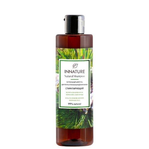 Innature шампунь натуральный Стимулирующий для роста и против выпадения волос 250 мл шампунь от выпадения и для роста волос