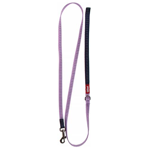 Поводок для собак GiGwi Classic Line S фиолетовый 1.2 м 10 мм поводок для собак gigwi classic line s фиолетовый 1 2 м 10 мм