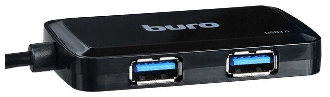 USB-концентратор Buro BU-HUB4-U3.0-S, разъемов: 4