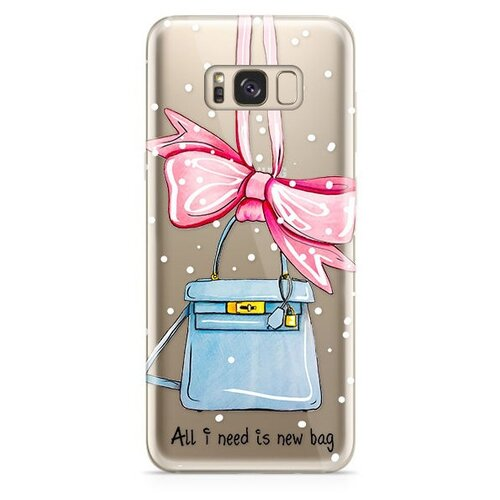 Чехол With Love. Moscow W003262SAM для Samsung Galaxy S8 new bag аксессуар чехол with love moscow samsung galaxy j7 2017 кожаный black 10207