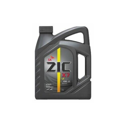 Моторное масло ZIC X7 LS 10W-40 4 л моторное масло zic x7 ls 5w 30 4 л