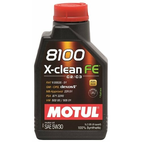 Моторное масло Motul 8100 X-clean FE 5W30 1 л моторное масло motul 8100 x clean fe 5w 30 1 л