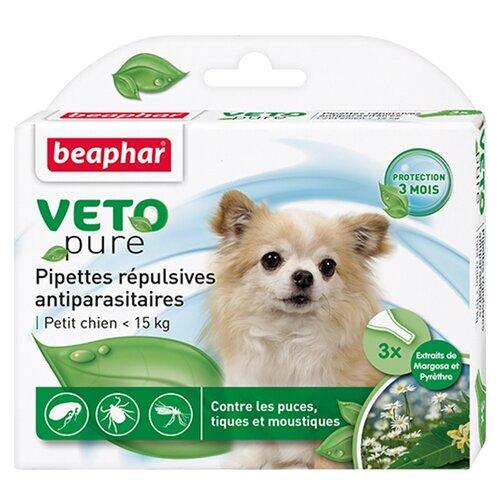 Beaphar капли от блох и клещей Veto pure для собак до 15 кг