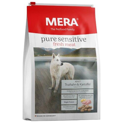 Корм для собак Mera (12.5 кг) Pure Sensitive Fresh Meat с индейкой и картофелем для взрослых собак 12.5 кг