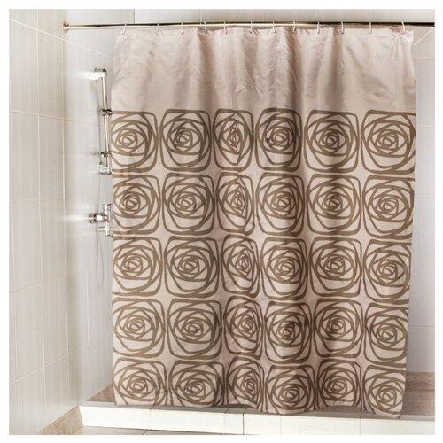 Штора для ванной Aquarius Элит 180х200 коричневый штора для ванной joyarty глаз в цветочном узоре 180х200 sc 19372
