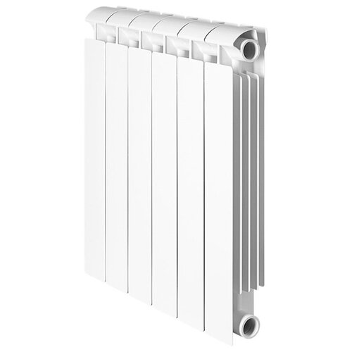 Радиатор секционный биметаллический Global STYLE EXTRA 350 х4 теплоотдача 308 Вт, подключение боковое правое RAL 9010 биметаллический радиатор rifar рифар b 500 нп 10 сек лев кол во секций 10 мощность вт 2040 подключение левое