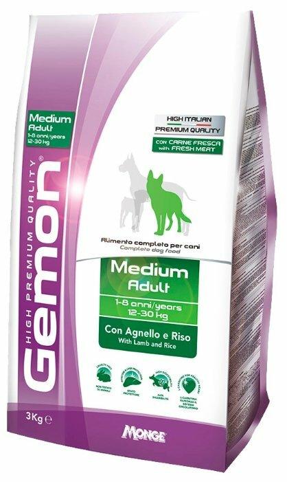 Корм для собак Gemon Dog Medium Adult с ягненком и рисом