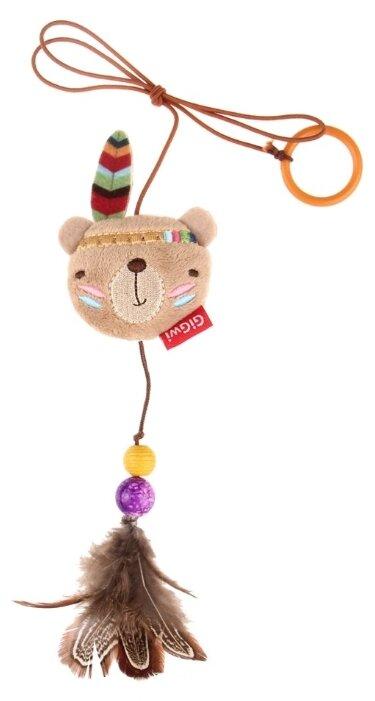 Дразнилка для кошек GiGwi Happy Indians Мишка с кольцом (75408)