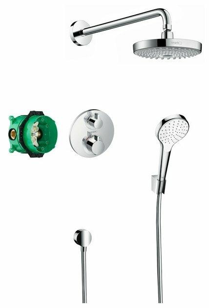 Верхний душ встраиваемый hansgrohe Croma Select S / Ecostat S 27295000 хром