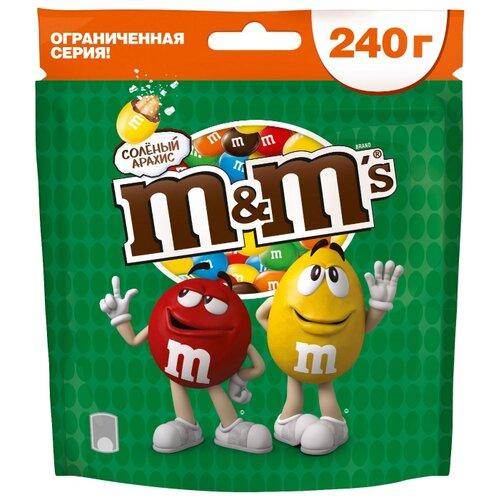 Драже M&M's в шоколадной глазури, с соленым арахисом, 240 г фото