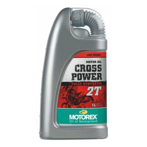 Моторное масло Motorex Cross Power 2T 1 л масло dde 1l синтетическое red ss 2t для 2 х тактных двигателей