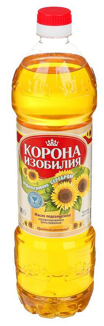 Корона изобилия Масло подсолнечное нерафинированное фильтрованное