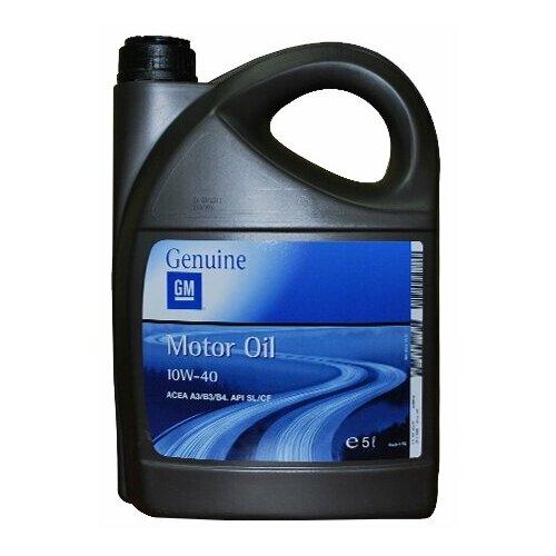 Моторное масло GENERAL MOTORS Semi Synthetic 10W40 5 л