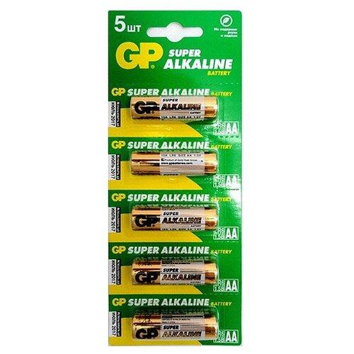 Фото - Батарейка GP Super Alkaline AA 5 шт блистер батарейка gp super alkaline aa 16 шт блистер