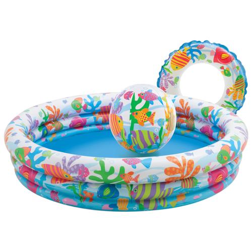 Детский бассейн Intex Fishbowl 59469 132х28см детский бассейн intex family 57495