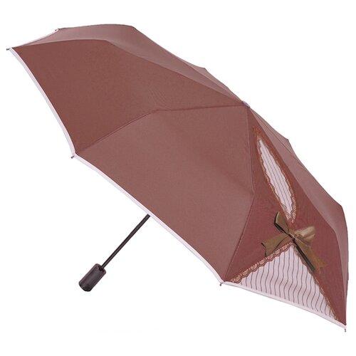 Зонт автомат FLIORAJ Кокетка коричневый зонт складной flioraj flioraj fl976dwente7