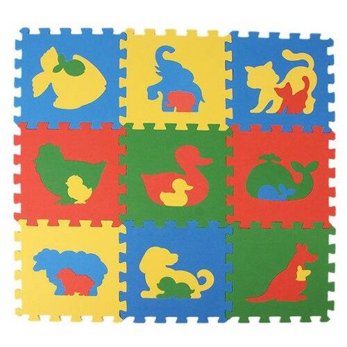 Купить Коврик-пазл ЭкоПолимеры Животные (33МП1/Ж), Игровые коврики