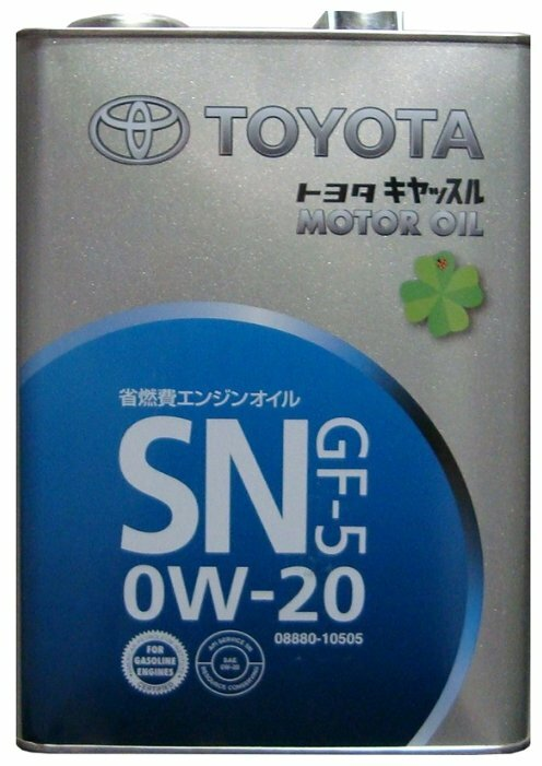 Моторное масло TOYOTA Motor Oil SN/GF-5 0W20 4 л 08880-12605 синтетика