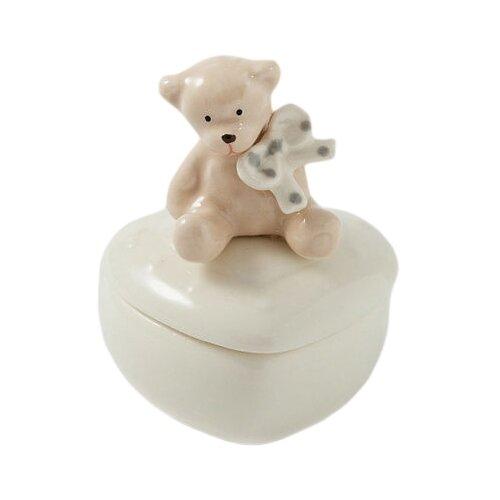 Русские подарки Шкатулка Мишка 110250 белый
