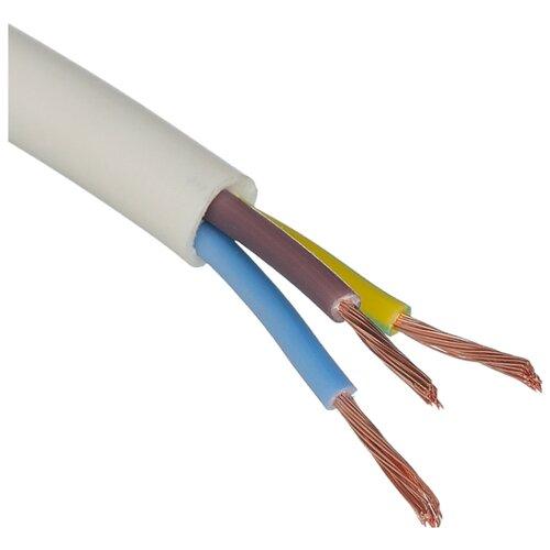 Провод ПВС 3х1.5 кв. мм (50 м) Пан Электрик ГОСТ белый