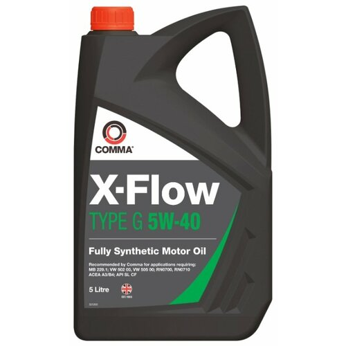 Моторное масло Comma X-Flow Type G 5W-40 5 л моторное масло comma x flow type pd 5w 40 5 л