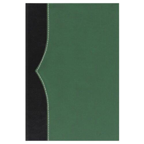 Купить Ежедневник Collezione Комбинедатированный, искусственная кожа, А5, 136 листов, черный/зеленый, Ежедневники, записные книжки