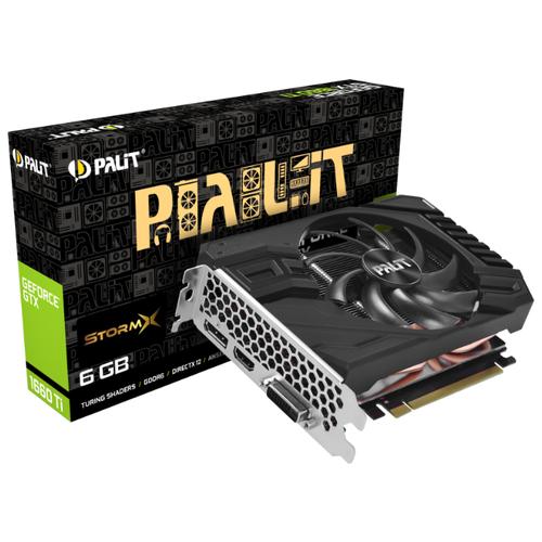 Видеокарта Palit GeForce GTX 1660 Ti 1500MHz PCI-E 3.0 6144MB 12000MHz 192 bit DVI HDMI DisplayPort HDCP StormX Retail