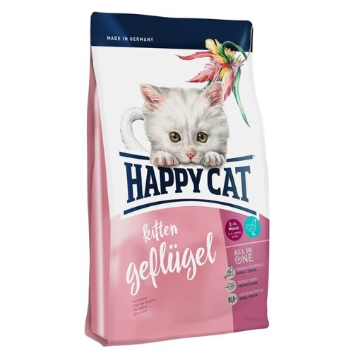 Сухой корм для котят Happy Cat Supreme с 5 недель, домашняя птица 4 кг