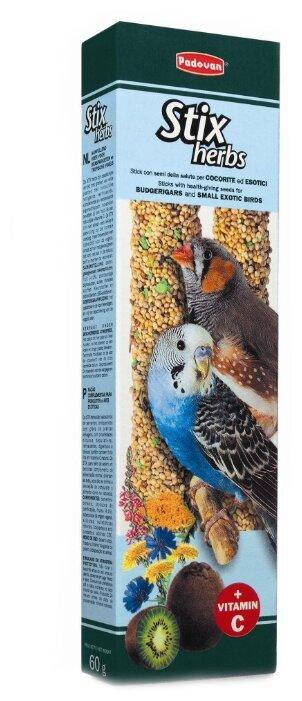 Лакомство для птиц Padovan Stix Herbs для попугаев и экзотических птиц антистрессовые с травами