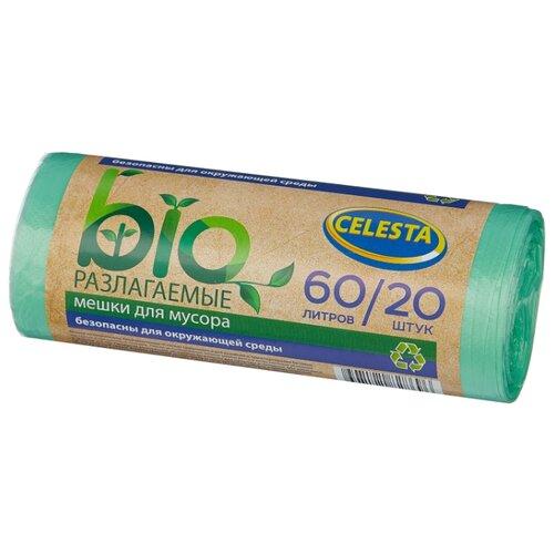 Мешки для мусора Celesta биоразлагаемые 60 л (20 шт.) зеленый