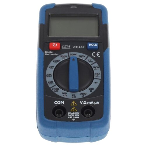 Мультиметр цифровой CEM DT-103 мультиметр cem dt 61