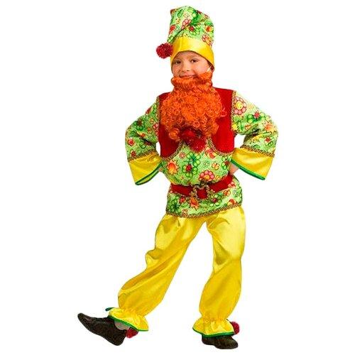 Костюм Батик Гномик сказочный Jeanees (5204), красный/желтый, размер 140, Карнавальные костюмы  - купить со скидкой