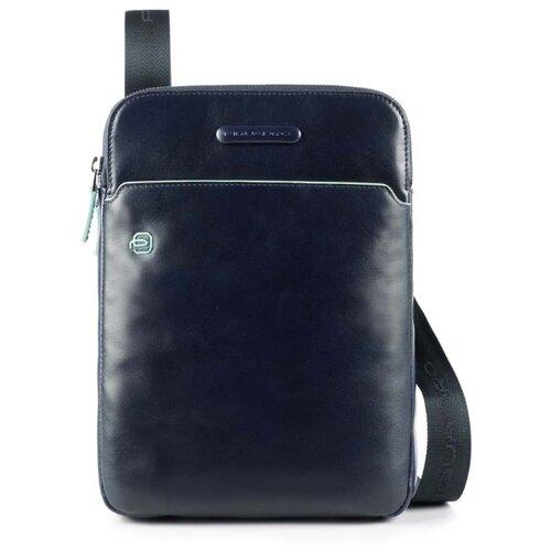 Сумка планшет PIQUADRO Blue Square (CA3978B2), натуральная кожа, синий