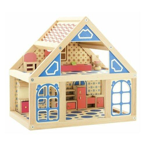 Купить Мир деревянных игрушек кукольный домик №1 Д225, бежевый, Кукольные домики