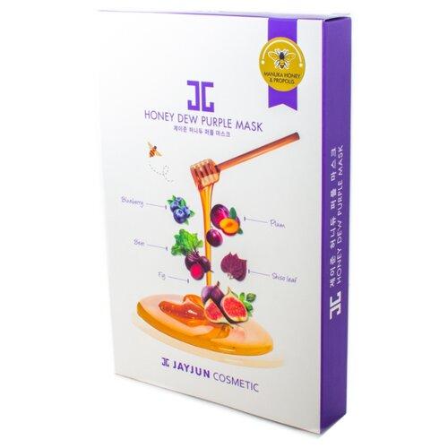 JAYJUN COSMETIC тканевая маска Honey Dew Purple медовая повышающая упругость и эластичность, 125 мл, 5 шт. jayjun cosmetic тканевая маска purple fragrance на основе растительных экстрактов 250 мл 10 шт