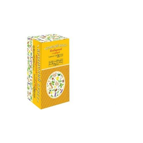 Чай травяной Крымский букет Имбирный с корицей в пакетиках , 30 г , 20 шт. чай травяной polezzno ромашка и липа в пакетиках 30 г 20 шт