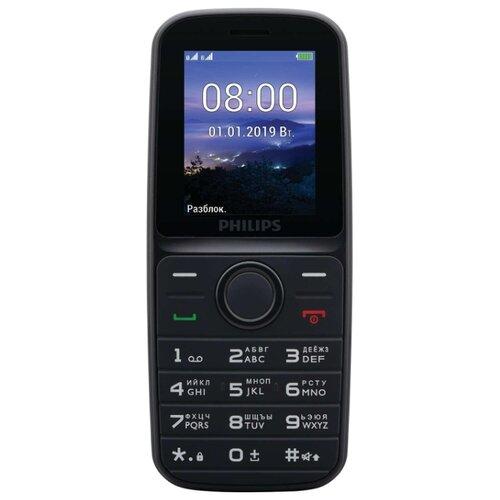 Телефон Philips Xenium E109 черный philips philips td 6816 беспроводной телефон фото машин главный бизнес офис телефон перетаскивание костюма белый