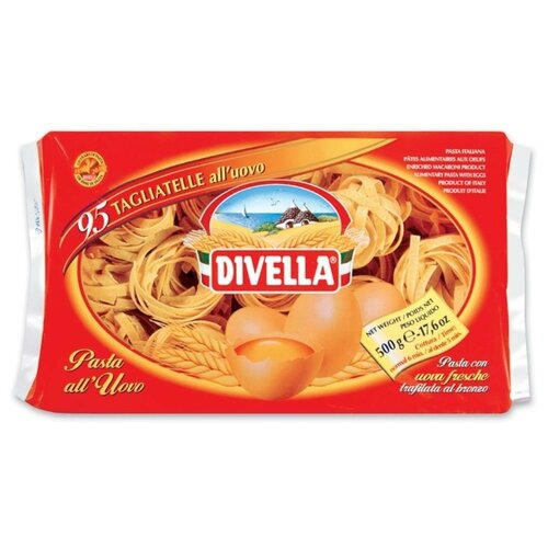Divella Макароны All Uovo Fettuccine яичные, 500 г