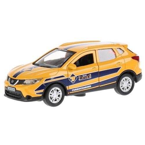 Легковой автомобиль ТЕХНОПАРК Nissan Qashqai Спорт (QASHQAI-S) 1:36 12 см желтый