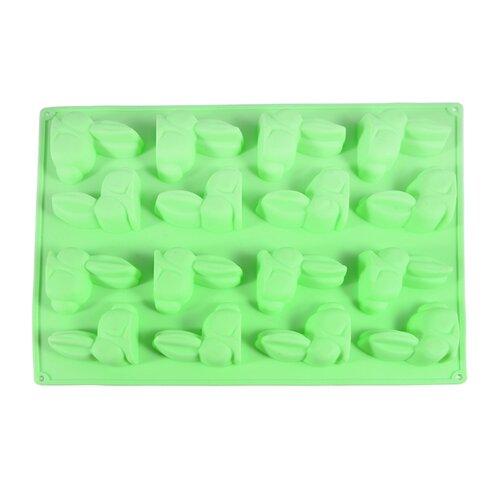Форма для шоколада Fissman Зайцы, 16 ячеек зеленый