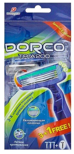 Бритвенный станок Dorco TR A200, 3+1 шт.